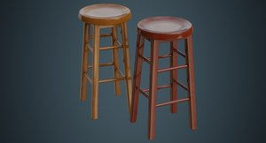 stool 2a 3D model