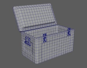 3D icebox box model