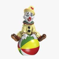 3D figurine clown ball