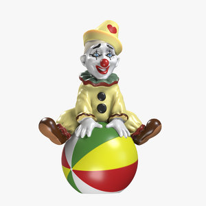 3D figurine clown ball