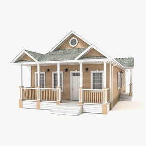 3D one-story cottage 87 model