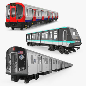 subway trains 2 3D model
