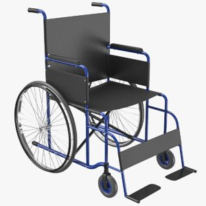 wheel chair 03 3D model