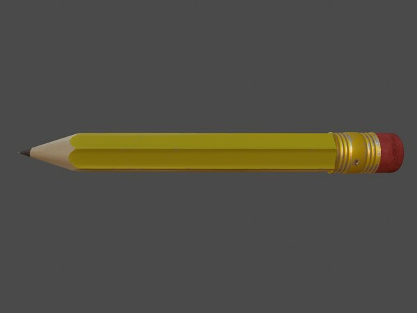 pencil pen dwarf 3D model