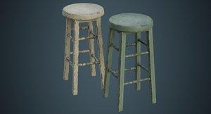 3D stool 2d