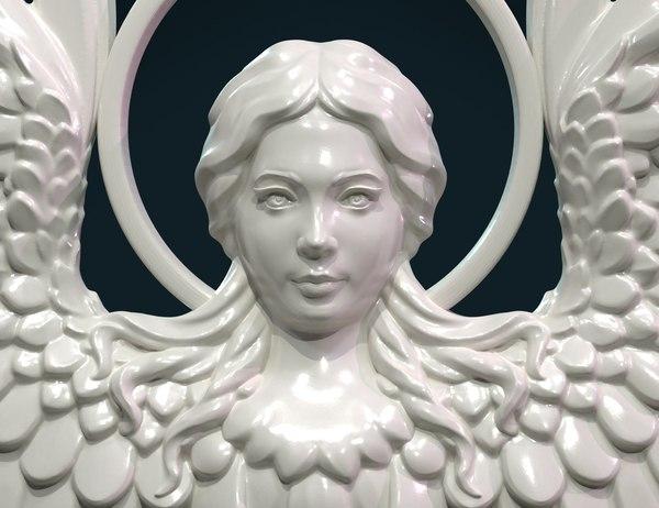 3D angel relief model
