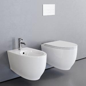 toilet fox wall-hung bidet 3D
