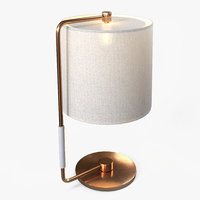 table lamp lights 3D model