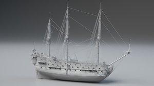 3D spanish san felipe triple model