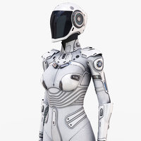 White Female Cyborg
