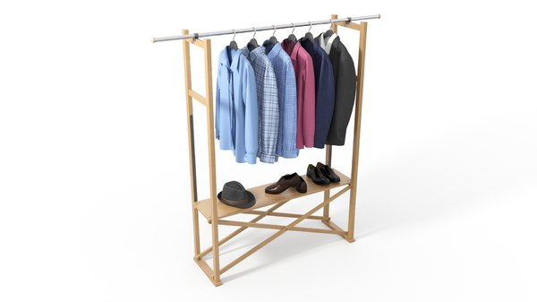 clothes set hanger model