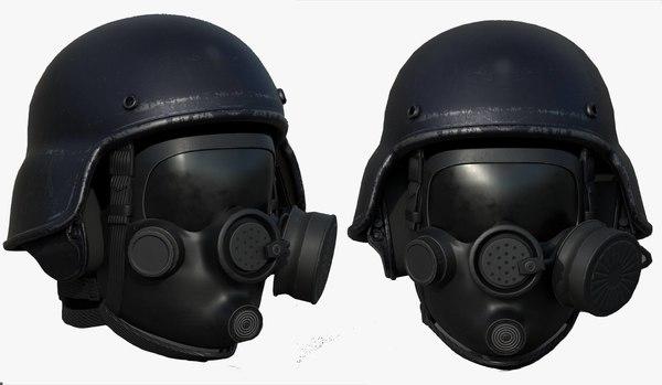 3D mask sci fi model