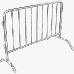 3D barrier fence model