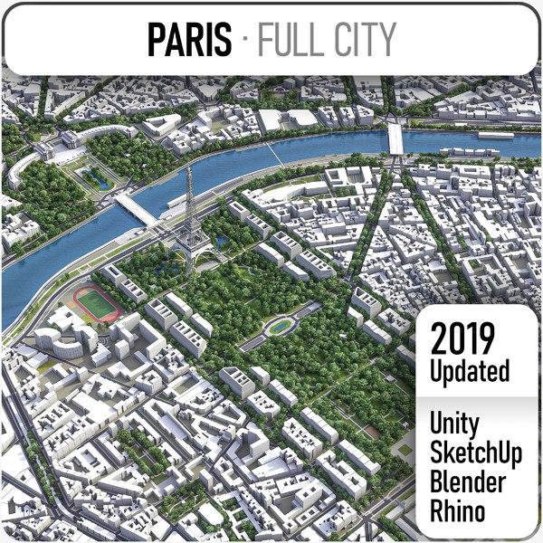 3D paris city