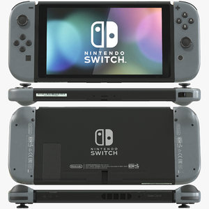 3D model nintendo switch gray joycon