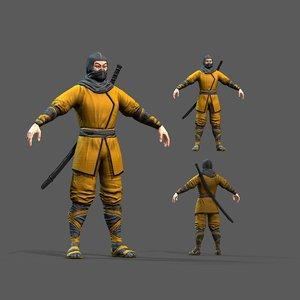 pbr character ninja model