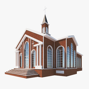 church chapel building 3D