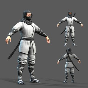 pbr character ninja 3D