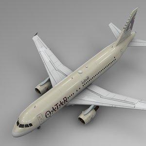 qatar airways airbus a320 model