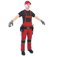 electrician man hammer model