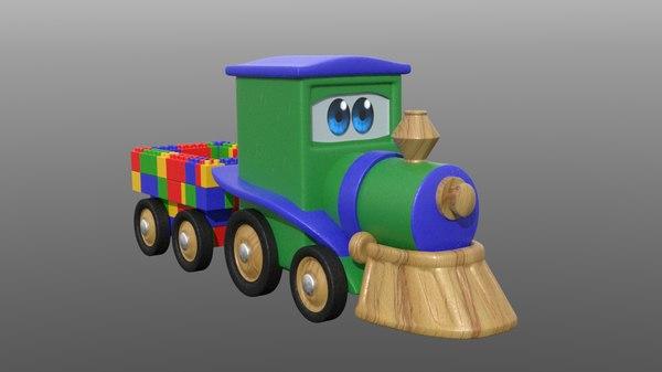 toy train modo objs 3D model