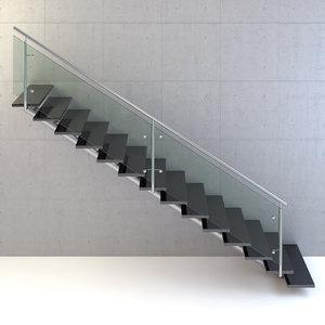 3D modern stair