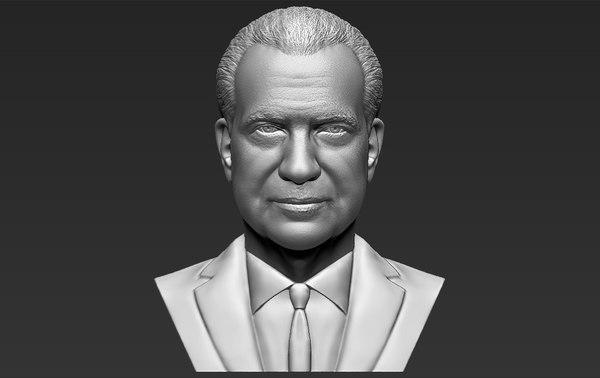 richard nixon bust ready 3D