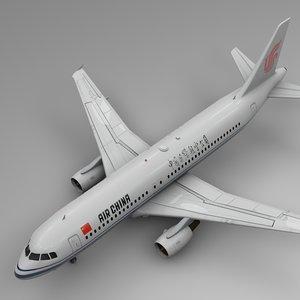 air china airbus a320 3D model