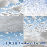 3D Clouds Sky - 6 PACK