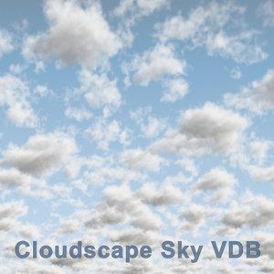 3D cloudscape sky 04 vdb