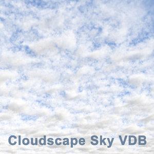 cloudscape sky vdb 3D model
