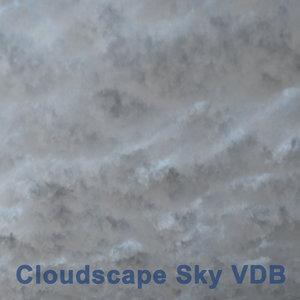 3D cloudscape sky 06 vdb model