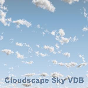 cloudscape sky 03 vdb 3D model