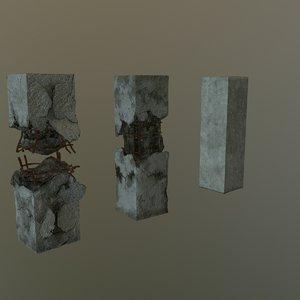 damaged pylon set model