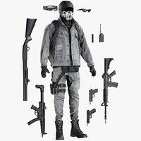 3D model equipment terrorist