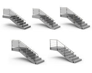 3D stairs materials