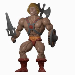 3D he-man masters universe toy