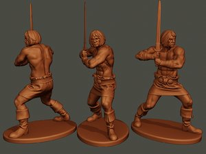 male barbarian 2hsword combat1 model