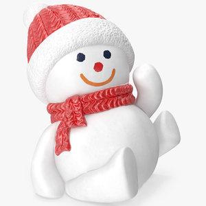 3D snowman figurine model