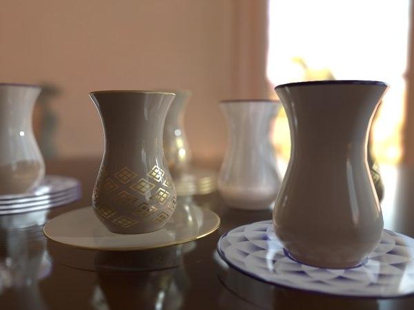 turkish tea cup model