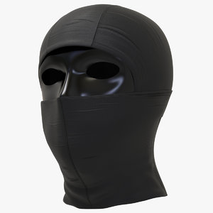 black balaclava mask 3D model