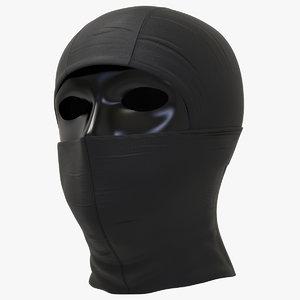 black balaclava mask 3D model