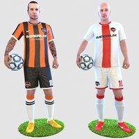 3D soccer player 4k model