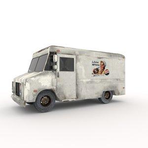3D stepvan van