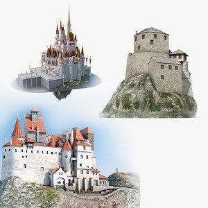 castles magic old 3D model