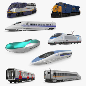 3D locomotives diesel electric