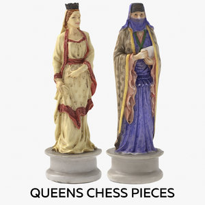 queens chess pieces model