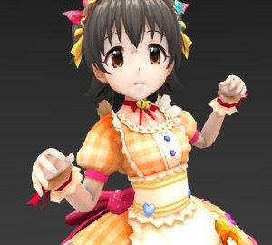 child girl cute 3D