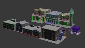 3D model wild west town