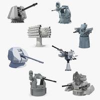 deck guns 2 3D model